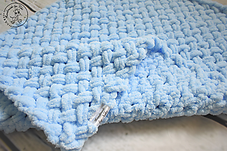 Textil - Detská deka ručne pletená - 10291803_