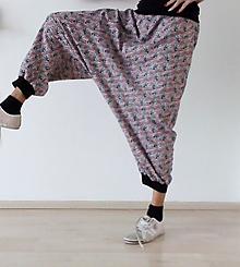 Nohavice - Harémové tepláky TYGŘI, vel.L/XL - 10289312_