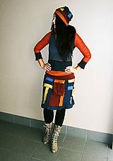 Sukne - lel, midi sukňa ,golier a čiapka,jeseň - 10290932_