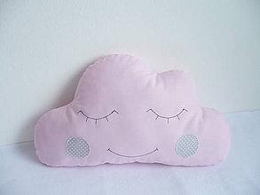 Textil - Vankúšik-obláčik ružový - 10291808_