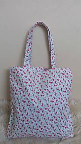 Nákupné tašky - Taška nakupna kvetinka - 10289668_