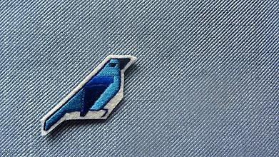 Odznaky/Brošne - Brošňa Vtáčik modrý - 10289615_