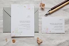 Papiernictvo - Svadobné oznámenie Rosé - 10289566_