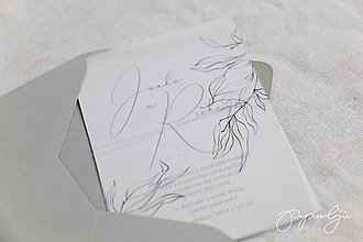 Papiernictvo - Svadobné oznámenie Semitransparent - 10289846_