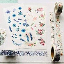 Papier - papierové nálepky Kvetiny - 2 hárky - 10289111_