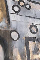 Obrazy - Oči /abstraktná maľba na plátne - akryl a sprej/ - 10291503_
