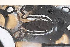 Obrazy - Oči /abstraktná maľba na plátne - akryl a sprej/ - 10291504_
