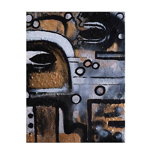 Oči /abstraktná maľba na plátne - akryl a sprej/