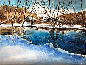 Obrazy - Zimné svetlo - 10290940_
