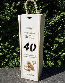 Dekorácie - Drevená škatuľa na víno s povolaním - 10289605_