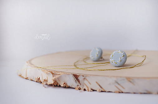 Zlato - biele venčeky v sv.modrom objatí - malé