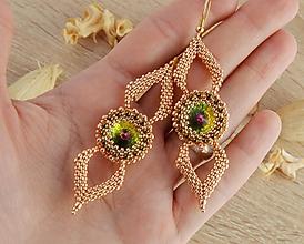 Náušnice - Tiffany - elegantné náušnice (Ružové zlato) - 10291463_