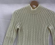Pletené. Ručne pletený sveter - írsky vzor