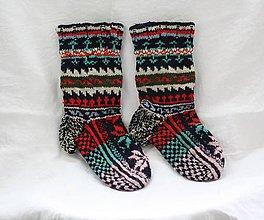 Obuv - Ponožky - nórsky vzor. - 10289411_