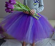 Detské oblečenie - Fialová tutu sukňa - 10290730_