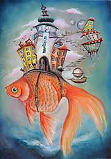 Obrazy - Zlatá rybka / Michalská brána - 10290911_