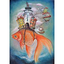 Obrazy - Zlatá rybka / Michalská brána - 10290910_
