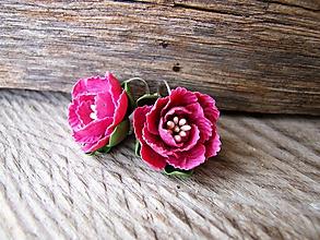Náušnice - Šípová ruža - 10289022_