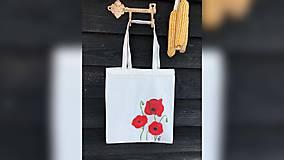 Iné tašky - ♥ Plátená, ručne maľovaná taška ♥ - 10288824_
