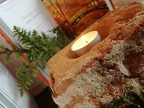 Svietidlá a sviečky - Svietnik tehla - 10291365_