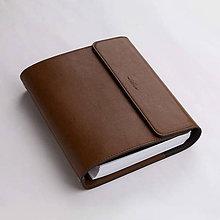 Papiernictvo - Kožený zápisník / karisblok ZMEJSS - A5 (Hnedá) - 10289922_