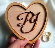 Prstene - Podnos na obrúčky s monogramom - 10290401_