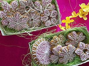Dekorácie - Dekoratívne medovníčky....predzvesť jari - 10290283_