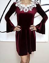 Šaty - Šaty zo zamatu - 10291704_