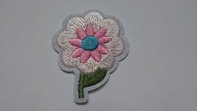 Galantéria - Nažehľovačka Ružový kvietok - 10288718_