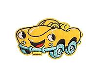 Galantéria - Nažehľovačka Žlté auto - 10290954_