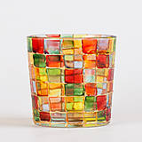 Svietidlá a sviečky - VÝPREDAJ - Svietnik - mozaika - 10289643_