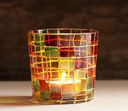 Svietidlá a sviečky - VÝPREDAJ - Svietnik - mozaika - 10289645_