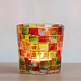 Svietidlá a sviečky - VÝPREDAJ - Svietnik - mozaika - 10289646_