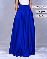 Sukne - SLAVENA (maxi kruhová sukňa s protizáhybmi) - 10289057_