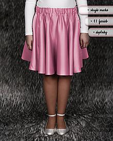 Detské oblečenie - MARÍNA (krátka kruhová dievčenská sukňa) 41 farieb - 10289928_