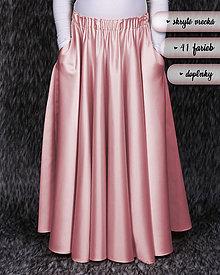 Detské oblečenie - DRAHOTÍNA - (dlhá kruhová dievčenská sukňa) 41 farieb - 10289950_