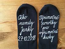 Maľované (pánske) ponožky pre otca nevesty