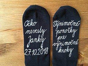 Obuv - Maľované (pánske) ponožky pre otca nevesty - 10289006_