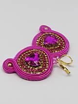 Náušnice - Ružové srdiečka - 10291296_
