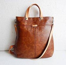 "Kabelky - LAURA ""Brown"" kožená kabelka - 10289402_"