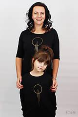 Šaty - Dámske šaty s vreckami čierne z teplákoviny M15 IO23 - 10290749_