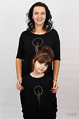 Detské oblečenie - Detské šaty s vreckami čierne z teplákoviny M15 IO23 - 10290803_