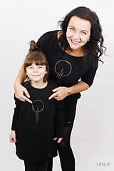 Detské oblečenie - Detské šaty s vreckami čierne z teplákoviny M15 IO23 - 10290805_
