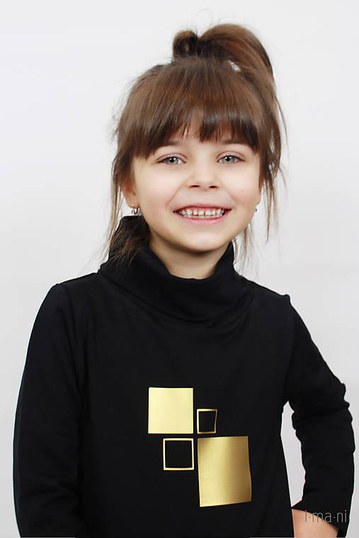 Detské mikinové šaty s predným vreckom čierne z teplákoviny M16 IO25 ... f8cc355165f