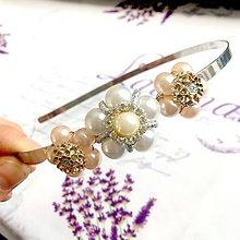 Ozdoby do vlasov - Vintage Flower Headband / Vintage čelenka s perličkami v tvare kvetov /1427 - 10295560_