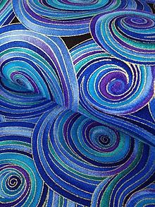 Textil - Dizajnová bavlna Night - Multi by Chong-a Hwang - 10292169_