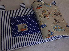 Úžitkový textil - Zástena na posteľ - vzducholode a zvieratká - 10293652_