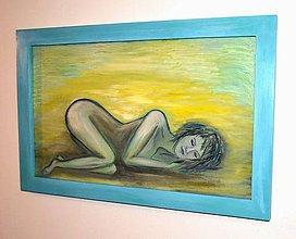 Obrazy - Maľovaný obraz,zarámovaný-Snenie - 10292727_