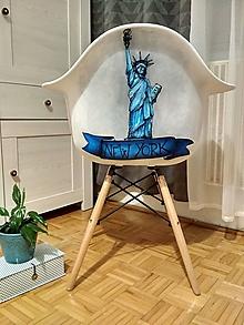 Nábytok - Stolička Lady of Liberty - 10295842_