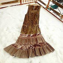 Šaty - Hnedé leto v snehu- zľava z 39 € - 10295655_
